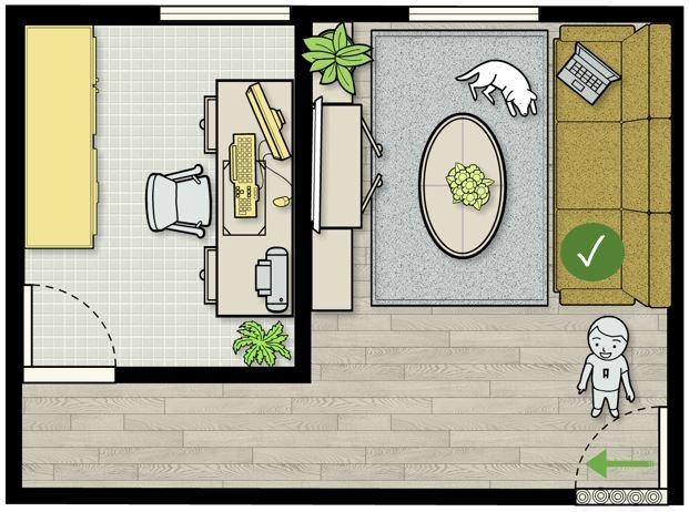 Feng shui tips for sofa facing main door directly feng for Feng shui doors facing each other