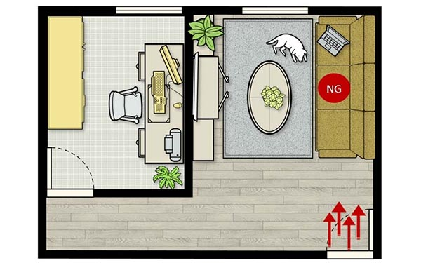 Feng Shui Tips for Sofa Facing Main Door Directly