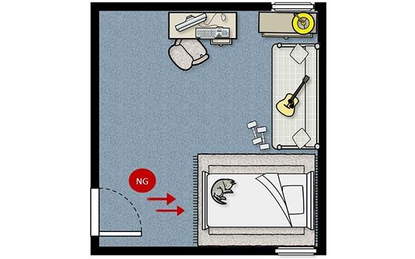 Fsbacademy feng shui 101 for Feng shui bedroom door facing bathroom door