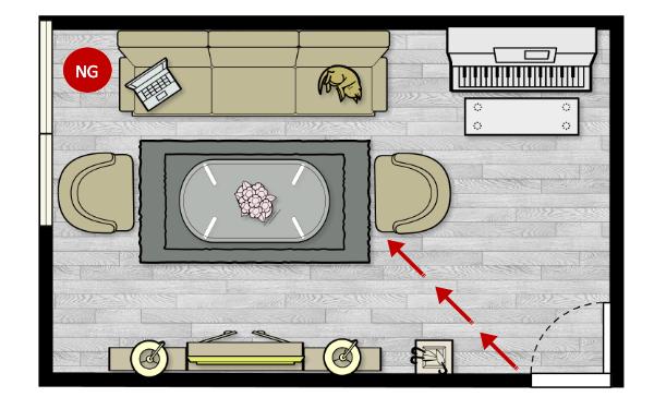 Feng Shui Tips for Having a Window 45 Degree Facing The Main Door