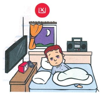 Placing TV, Sound System and handphone in front of your bed