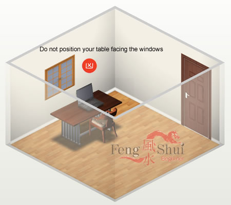 7 must see study table feng shui placement taboos with - Desk in bedroom feng shui ...