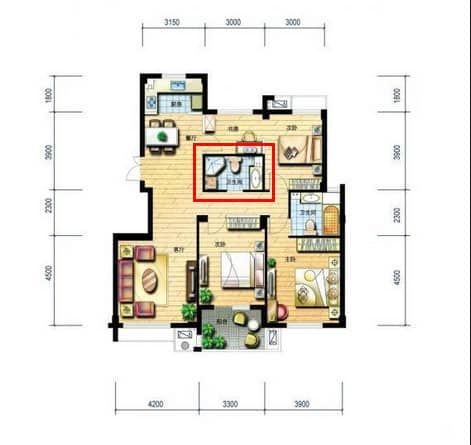 5 bad feng shui floorplan layouts to avoid when choosing your house feng shui beginner. Black Bedroom Furniture Sets. Home Design Ideas